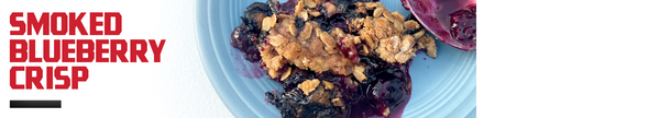 Smoked Blueberry Crisp