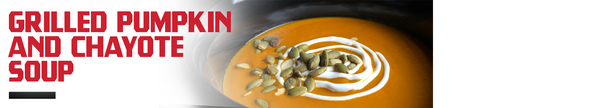 Grilled Pumpkin and Chayote Soup