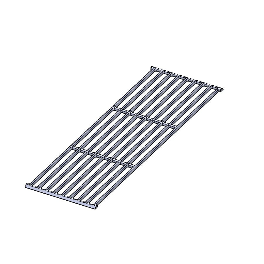COOKGRATE - PORCELAIN GRATES w/1 notch   (1 PC)  19.75 x 6.75  - GAS GRILLS & GAS SIDE OF DUOS