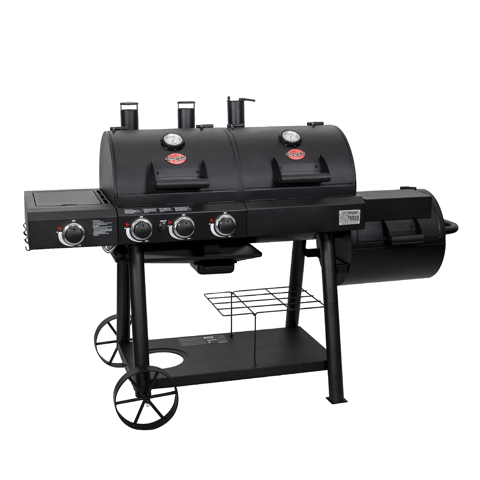 Texas Trio Gas & Charcoal Grill