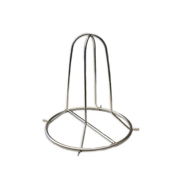 SS FOLDING BEER CAN CHICKEN RACK (ROUND BASE)