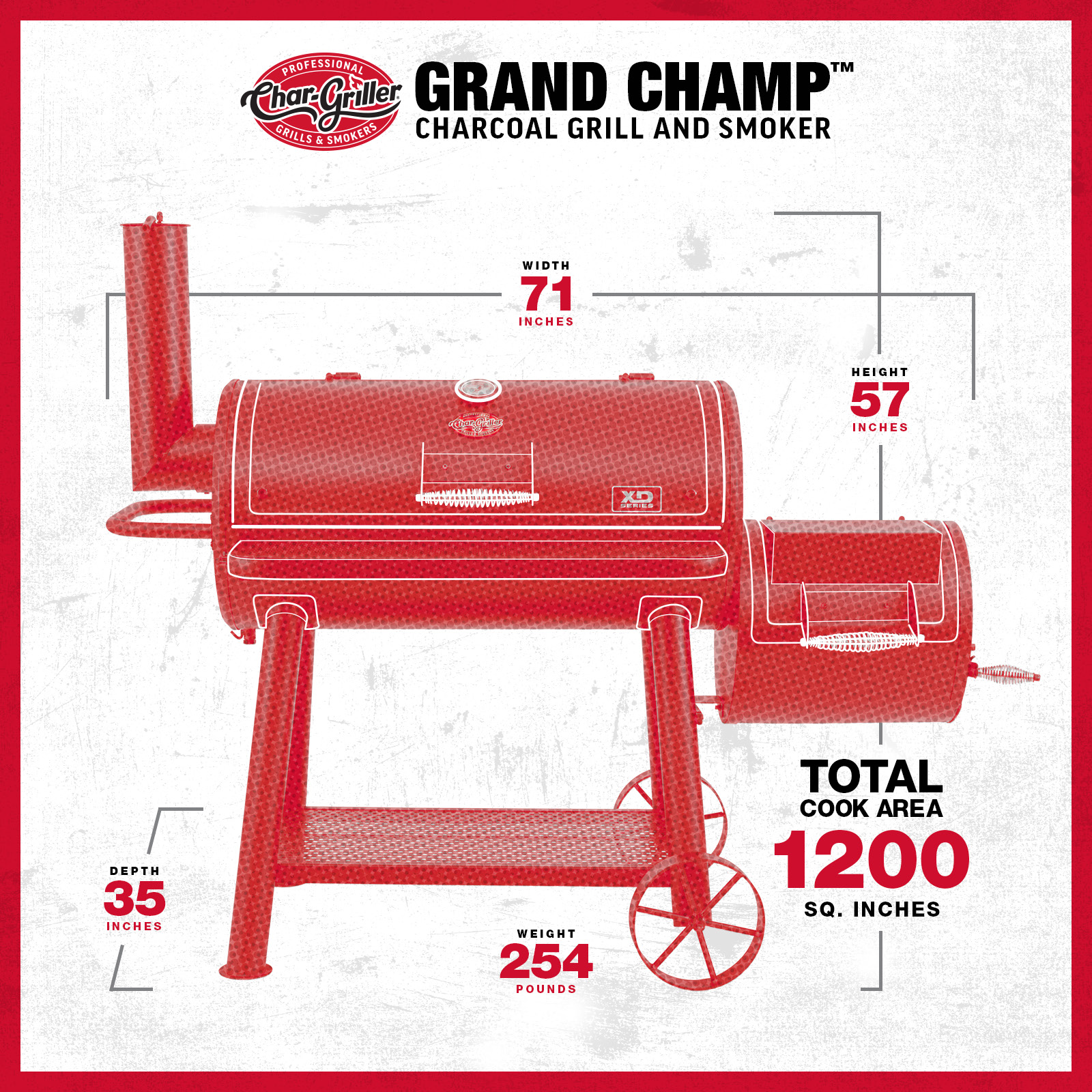 Grand Champ™ Offset Smoker