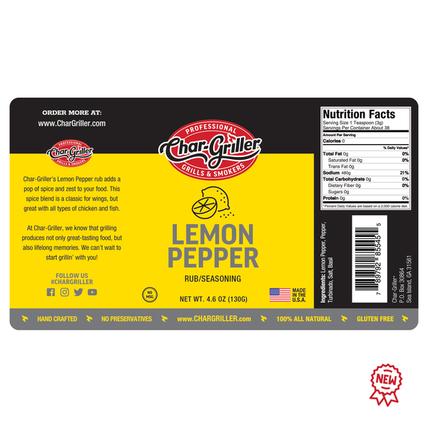 RUB - LEMON PEPPER 4.6oz.
