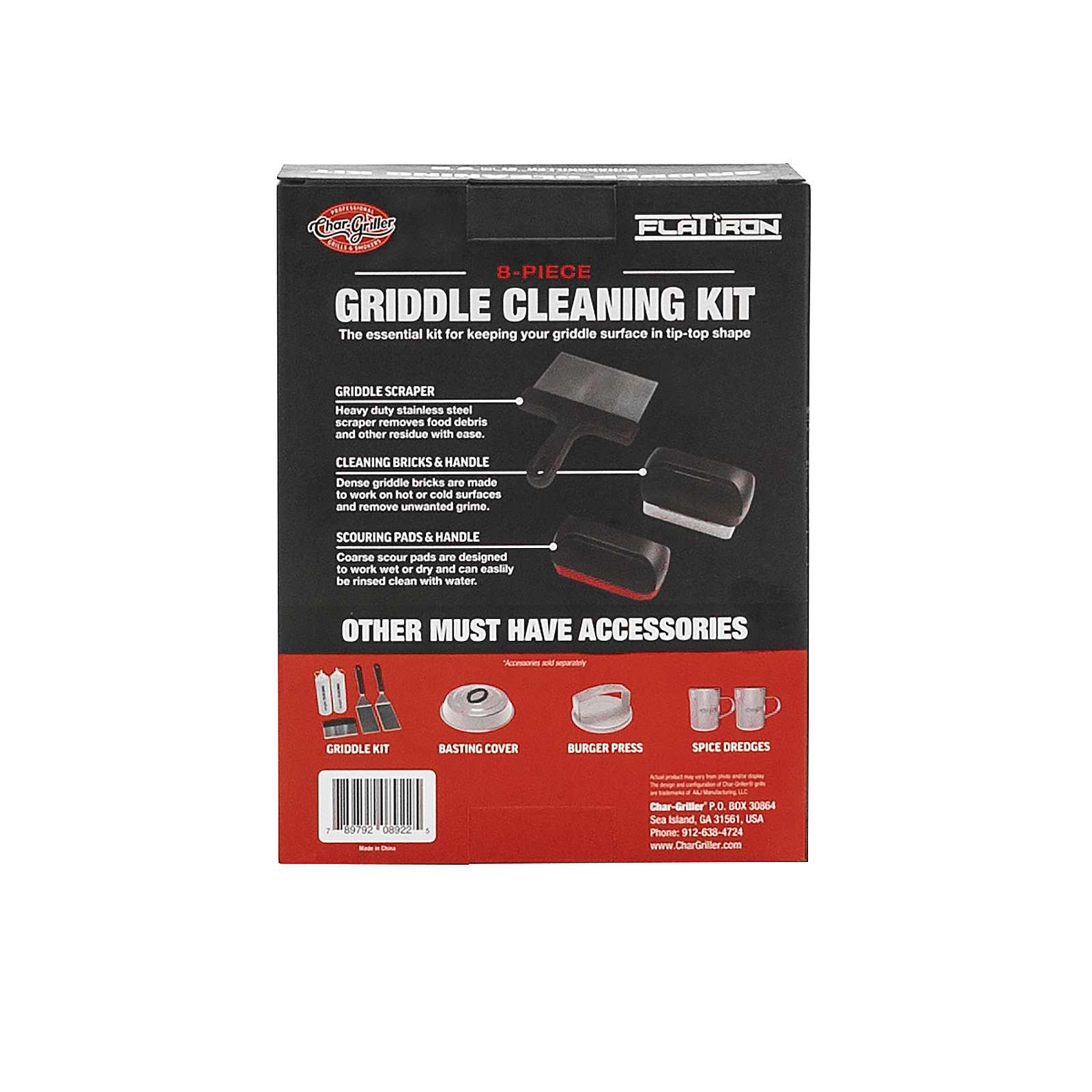 Char-Griller® Flat Iron® Griddle Cleaning Kit