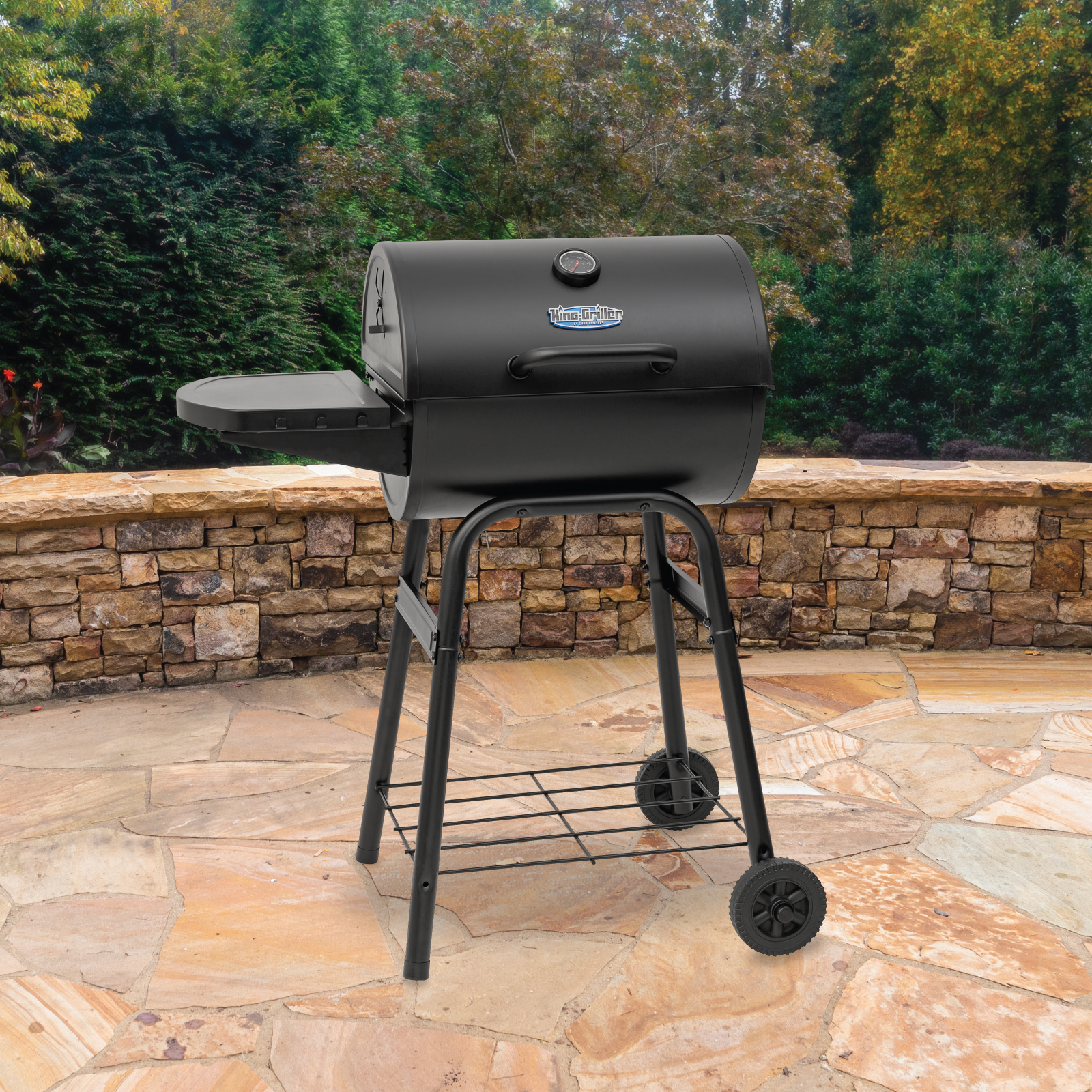 King-Griller Gambler™ Barrel Style Charcoal Grill