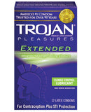 Trojan Extended Pleasure Condoms - Box of 12