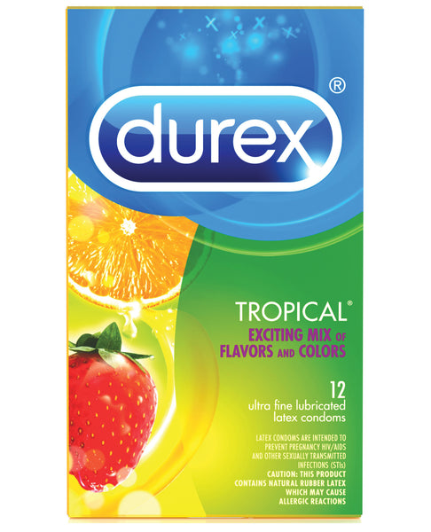 Durex Tropical Color & Scents Condoms  - Box of 12