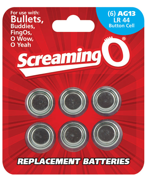 Screaming O AG13 Batteries - Sheet of 6 (Bullet, OWow, FingO, Bullet Buddies, O Gee)