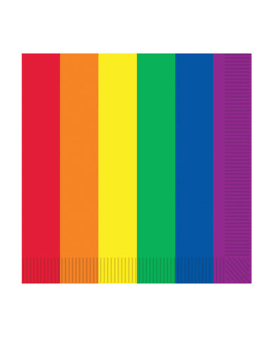 Pride Luncheon Napkins - Rainbow Pack of 16
