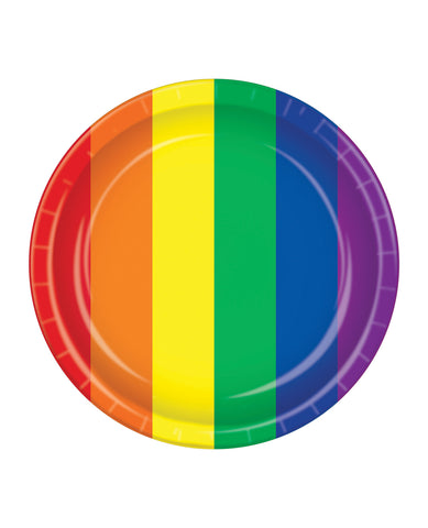 Pride Plates - Rainbow Pack of 8