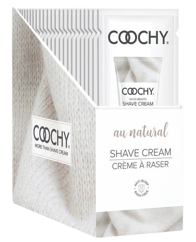 COOCHY Shave Cream - Au Natural Display of 24