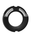 Kink Hybrid Silicone Covered Metal Cock Ring - 50 mm Black