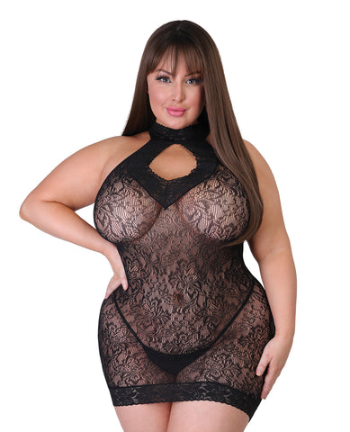 Fifty Shades of Grey Captivate Mini Dress - Black One Size Curve