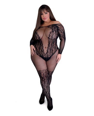 Fifty Shades of Grey Captivate Body Stocking - Black One Size Curve