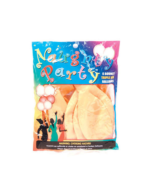 Naughty Party Boobie Balloons  - Flesh Pack of 6