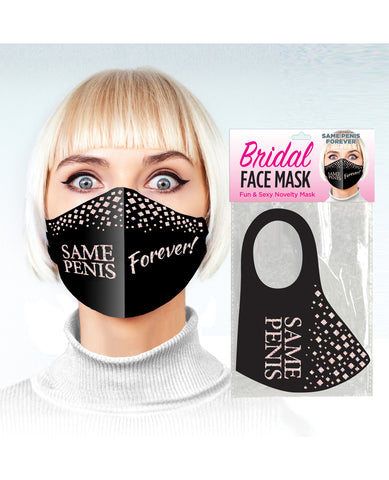 Same Penis Forever Face Mask - Black