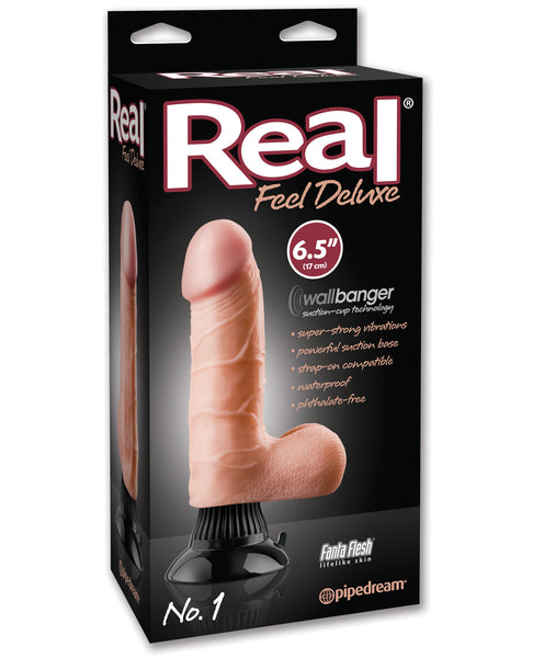 "Real Feel Deluxe No. 1  6.5"" Vibe Waterproof - Flesh"