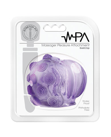 Magic Massager Pleasure Attachment Swirl Lip - Purple