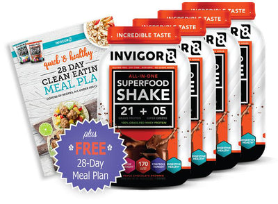 invigor8 superfood shake chocolate 4-pack