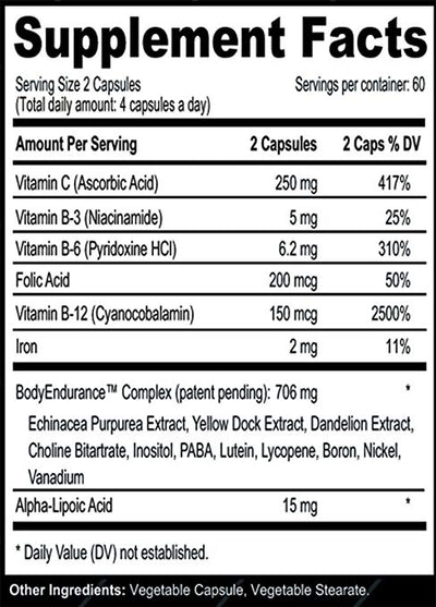 EPO-Boost ingredients