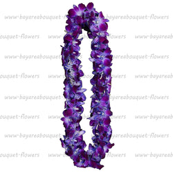 FRESH DOUBLE LEIS - PURPLE SONNIA