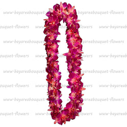 FRESH DOUBLE LEIS - RED SONNIA
