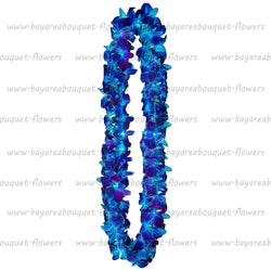 FRESH DOUBLE LEIS - BLUE SONNIA