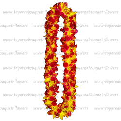 FRESH DOUBLE LEIS - YELLOW SONNIA