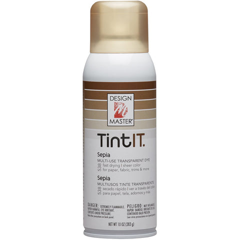 Design Master 538 Tint IT Transparent Dye Spray Paint, Sepia