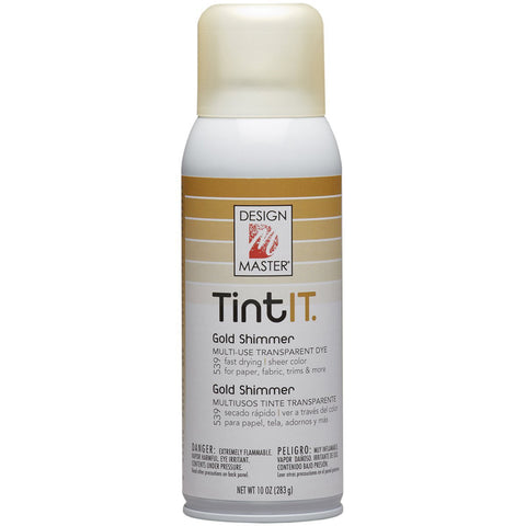Design Master 539 Tint IT Transparent Dye Spray Paint, Gold Shimmer