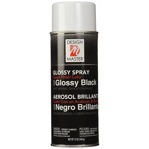 Design Master 625 Colortool Spray, Glossy Black