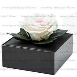 PRESERVED ROSE GIFT BOX PINK/WHITE
