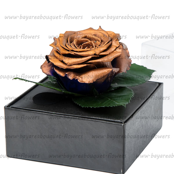 PRESERVED ROSE GIFT BOX COPPER