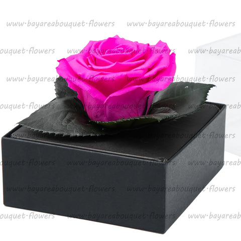 PRESERVED ROSE GIFT BOX BRIGHT PINK