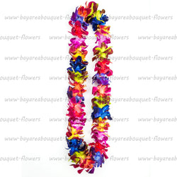 FRESH SINGLE LEIS - RAINBOW DYED SONNIA