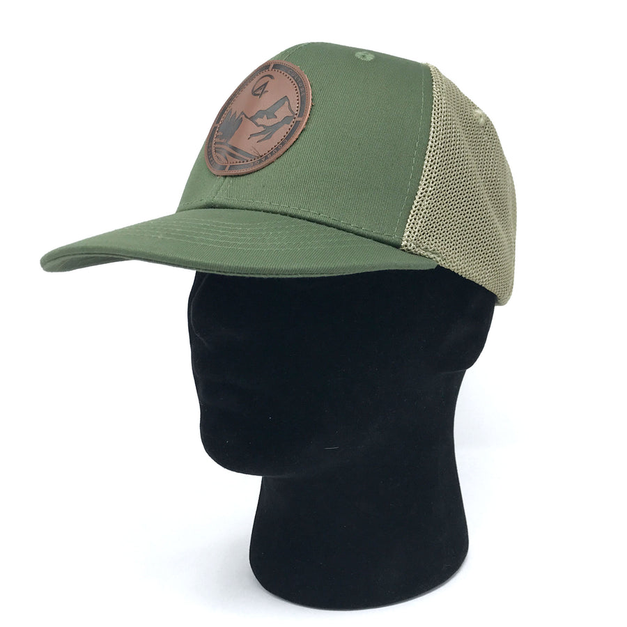 Green C4 Burned Copacetic Patch Mesh Snapback - Care Four