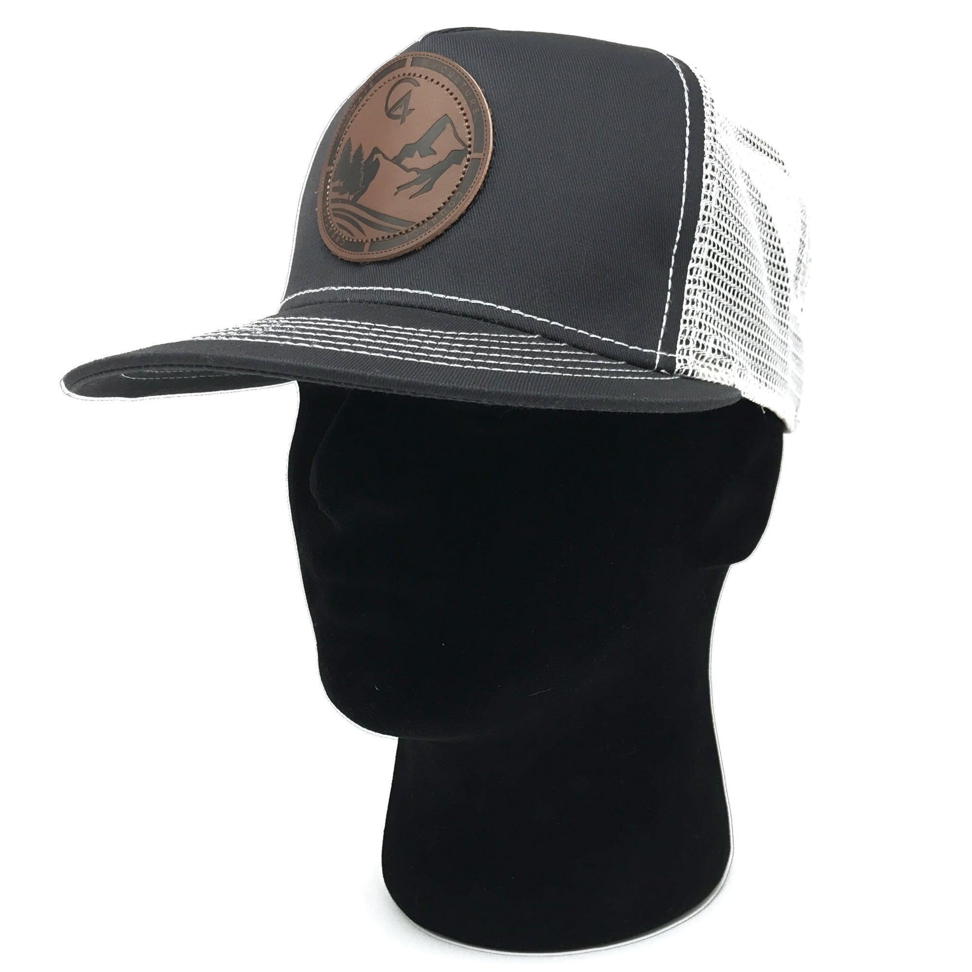 Grey C4 Burned Copacetic Patch Mesh Snapback - Care Four