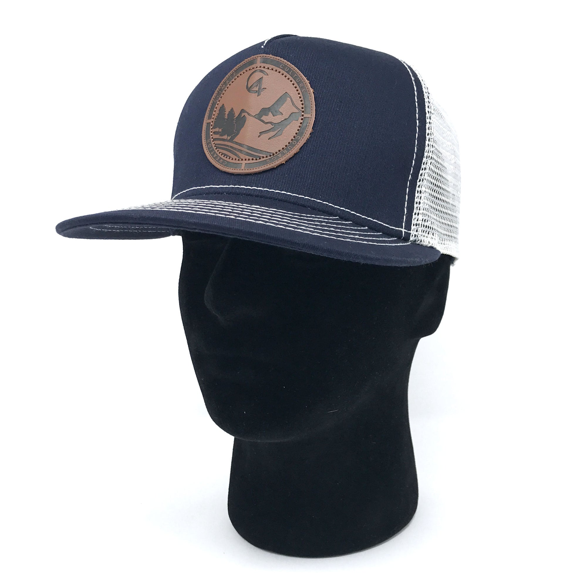 Navy C4 Burned Copacetic Patch Mesh Snapback - Care Four