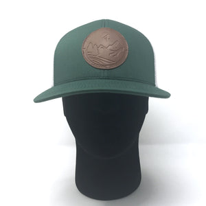 Green C4 Copacetic Leather Patch Mesh Snapback - Care Four