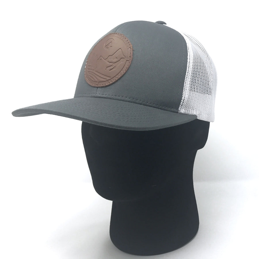 Graphite C4 Copacetic Leather Patch Mesh Snapback - Care Four