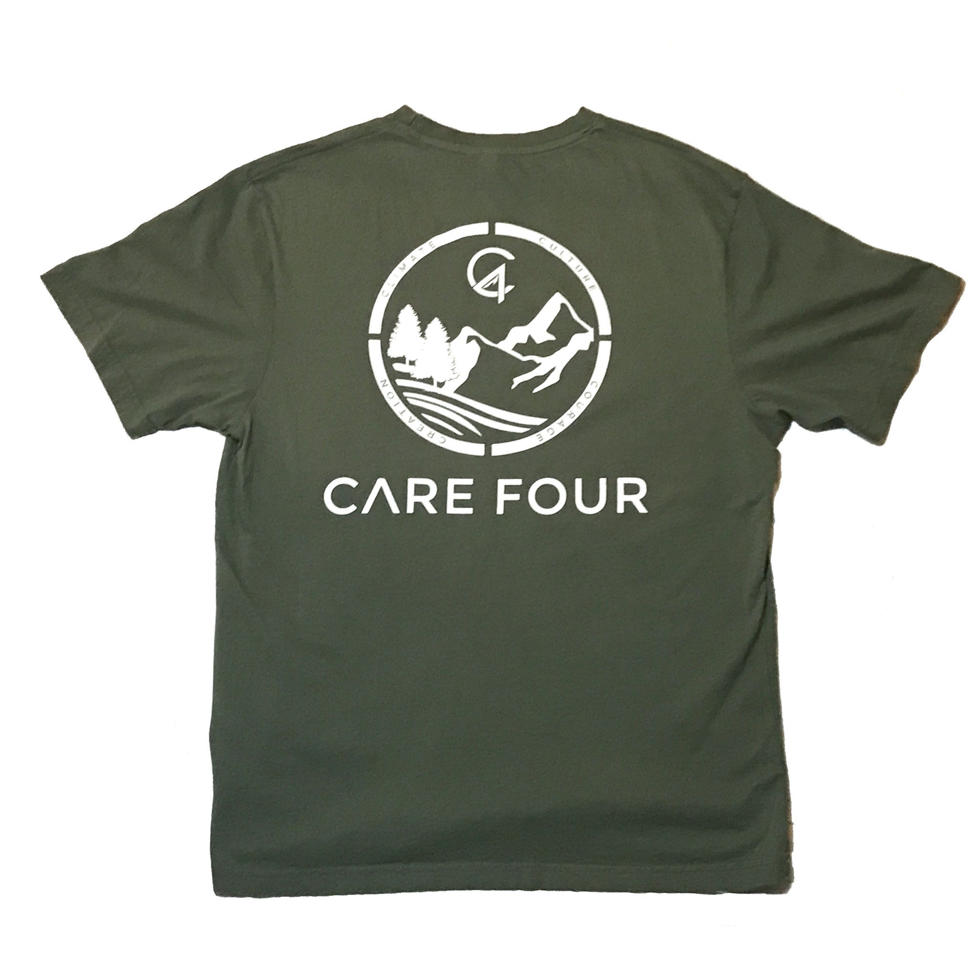 Army Green C4 Copacetic Short Sleeve Shirt - Care Four