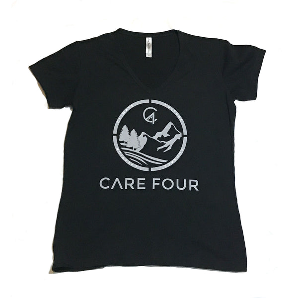 Black C4 Copacetic V Neck Shirt - Care Four
