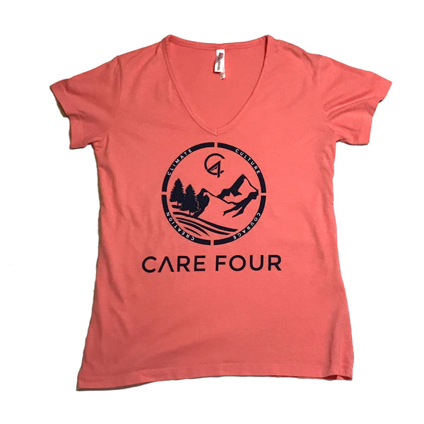 Peach C4 Copacetic V Neck Shirt - Care Four