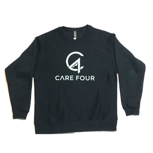 Black C4 Crewneck Sweatshirt - Care Four