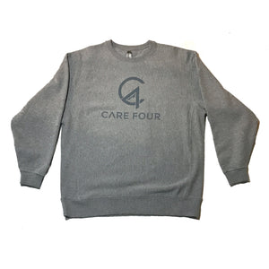 Grey C4 Crewneck Sweatshirt - Care Four