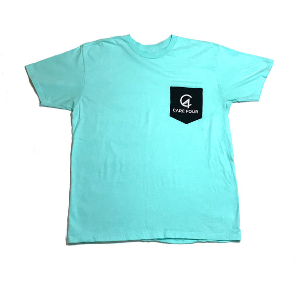 Mint C4 Classic Pocket Tee - Care Four