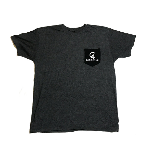 Dark Grey C4 Classic Pocket Tee - Care Four