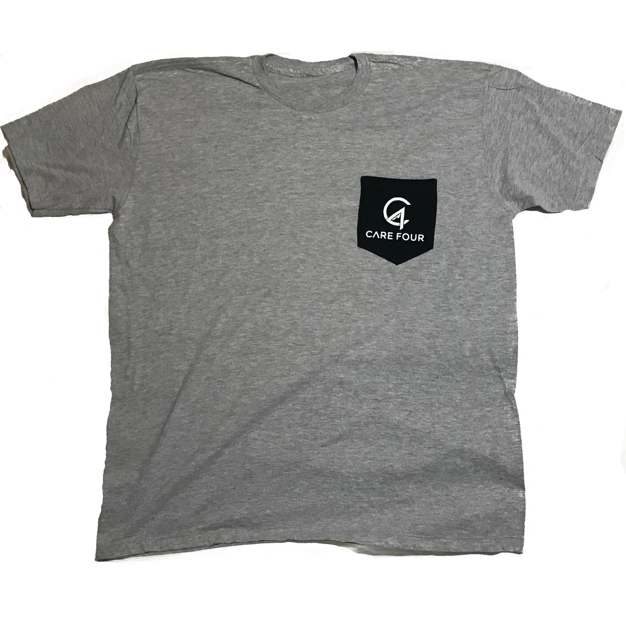 Heather Grey C4 Classic Pocket Tee - Care Four
