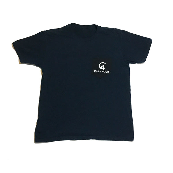 Navy C4 Classic Pocket Tee - Care Four