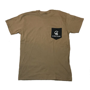 Tan C4 Classic Pocket Tee - Care Four